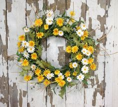 "Daisy Sunshine Wreath - 20"" - HOME DECORATIVE ACCENTS - 1"
