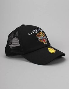 Ed Hardy Big Cat Caps Black | Accent Clothing