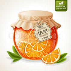 Orange jam jar