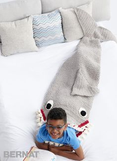 Sharkbite Crochet Snuggle Sack - too cute to be scary!