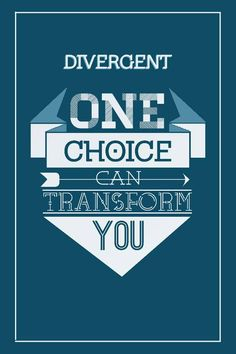 One choice can transform you