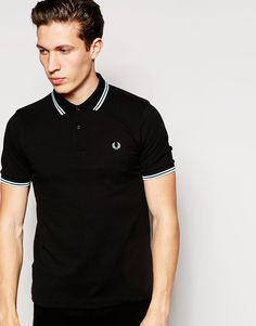 Fred Perry | Fred Perry Polo Shirt with Twin Tip Slim Fit at ASOS