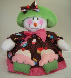 Boneca de Neve Cobre Bolo