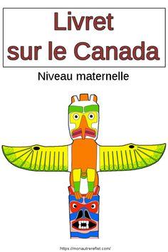 Livret d'activités sur le #Canada. #Maternelle #DDM Kids Travel Activities, Activities For Kids, Crafts For Kids, Passports For Kids, Les Continents, French Immersion, Travel With Kids, Montessori, Kindergarten
