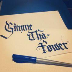 Molotov, Gimme Tha Power, Caligrafía, Calligraphy.