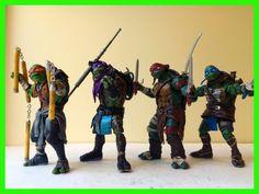 Custom 2014 Teenage Mutant Ninja Turtles New Movie Set TMNT All 4 One of a Kind #TMNT #Toys