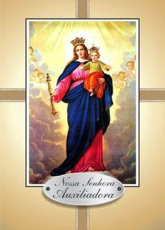 Nossa Senhora Auxiliadora orações em papel santinhos para promessa - Santinhos Ajuda Divina