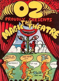 OZ Magazine Cover by Martin Sharp, Nov. 1968, The Magic Theatre, London. iL #Psychedelic