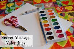 Secret Message DIY Valentines- Send secret messages to your valentine with DIY valentines from @formulamom