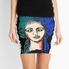 'Woman Silhouette' Mini Skirt by Artemix Woman Silhouette, Aphrodite, Apparel Design, Sell Your Art, Knitted Fabric, My Arts, Pencil, Mini Skirts, Printed