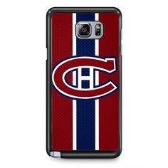 Montreal Canadiens Logo Carbon TATUM-7412 Samsung Phonecase Cover Samsung Galaxy Note 2 Note 3 Note 4 Note 5 Note Edge