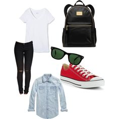 A fashion look from August 2014 featuring Scotch & Soda tops, Sally&Circle leggings and Converse sneakers. Browse and shop related looks.