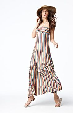 cute stripe maxi dress.