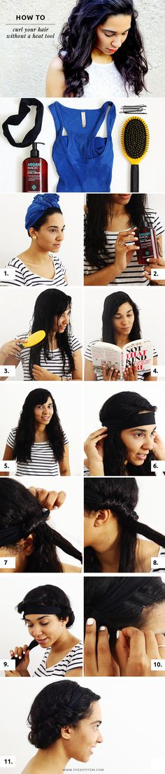 How To Curl Your Hair Without Heat - The Key Item #hairtutorial #hairstyle