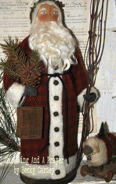 Primitive Folk Art OOAK Christmas Handmade by AWINGANDAPRAYER,