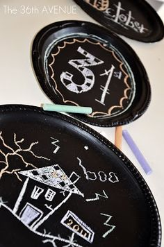 Platters to chalkboards. Lots of uses. Order chalkboard paint. especially good for Evys room or for Farmers Market Table