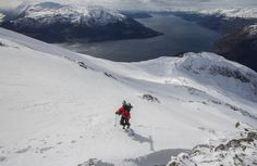 On our way up the mountain Oksen in Hardangerfjord, Norway. A really nice place to ski, overlooking the fjords. By Jo Bjørnar Hausnes