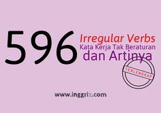 Irregular Verbs 596 Kata Kerja Tidak Beraturan Huruf A-F dan Artinya