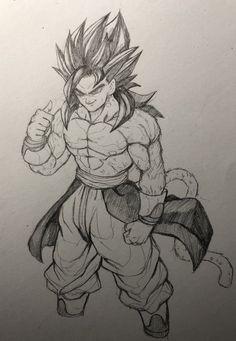 Goku Ssj4 Drawing : drawing, Vegito/Goku, Ideas, Goku,, Dragon, Super