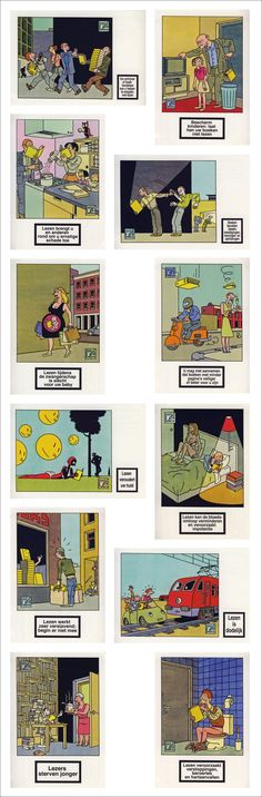 Joost Swarte - 12 postcards of the birthday calendar 2005 (in Dutch)