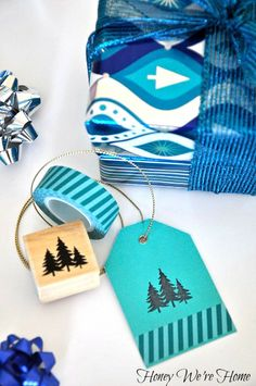 Washi tape gift tags // Honey We're Home