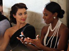 Kim Kardashian TV personality Kim Kardashian and singer Kelly Rowland attends Jill Stuart Spring 2010 fashion show at The New York Public Li...