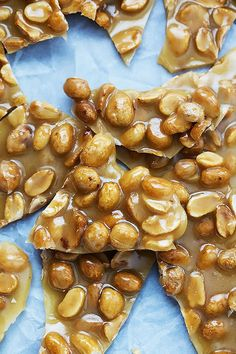 Sweet and salty, crunchy peanut brittle candy – easy to make in your microwave in ...