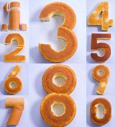 DIY Stunning Number Cake #diy #food #cake