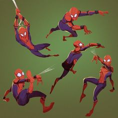 I'm putting Spider Man on the MHA collection, because hero! Drawing Cartoon Characters, Character Drawing, Comic Character, Cartoon Drawings, Spiderman Poses, Spiderman Art, Marvel Comics, Marvel Heroes, Marvel Avengers