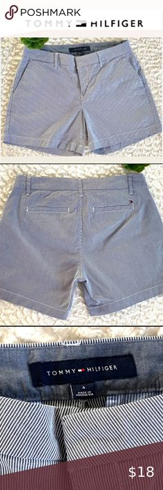 "Tommy Hilfiger Tommy Hilfiger women's blue & white chino shorts Great condition! Waist 15"" Length 12.5"" Inseam shorts 4 3/4 "" Tommy Hilfiger Shorts Tommy Hilfiger Shorts, Tommy Hilfiger Women, White Chinos, Plus Fashion, Fashion Tips, Fashion Design, Fashion Trends, Chino Shorts, Gym Shorts Womens"