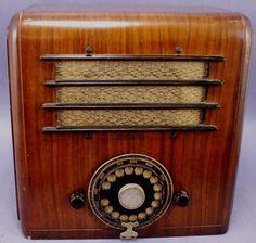 1936 KADETTE TELEDIAL WOOD TABLE TUBE RADIO- WORKING-VINTAGE