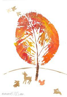 kokokoKIDS: Fall Art. This page is in Russian but it has loads of really cute fall ideas!!