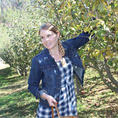 Apple picking in the orchards.
