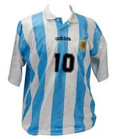 Diego Maradona's last match-worn Argentina shirt