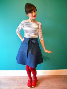 Scallop Pocket Miette Skirt