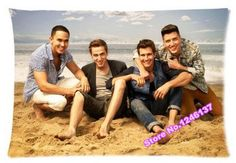 Free Shipping Love Music Big Time Rush Band vintage custom decorative zippered pillowcase 16x24 (inch) two sides