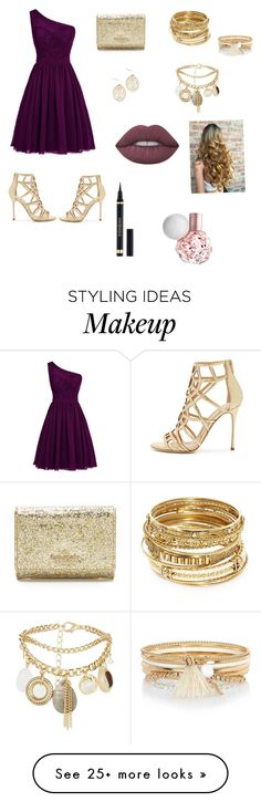 """Ruby mama"" by jvany26 on Polyvore featuring Sergio Rossi, Kate Spade, ABS by Allen Schwartz, River Island, New Look, Lime Crime and Yves Saint Laurent"