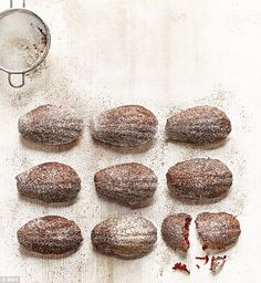 The cardamom-spiced beetroot and chocolate madeleines are simply dreamy...