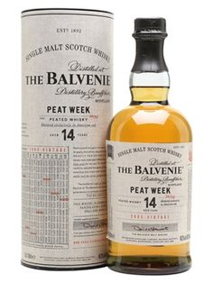 Balvenie produces peated whisky for one week a year – named 'Peat Week'. This inaugural release is from 2002 and has been aged in American oak for 14 years. The result is a gently smoky whisky with. Wine Chateau, Speyside Whisky, Whisky Club, Single Malt Whisky, Scotch Whiskey, 16 Year Old, Distillery, Alcoholic Drinks, Bourbon