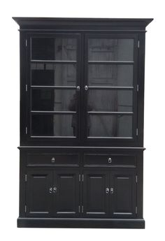 Vitrinskåp, Svart 220x145x45cm China Cabinet, House, Furniture, Home Decor, Tips, Inspiration, Homemade Home Decor, Biblical Inspiration, Crockery Cabinet