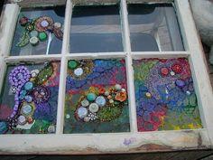 Mixed media and straight mosaics