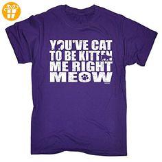 123t Slogans Herren T-Shirt, Slogan Violett Violett - Shirts mit spruch (*Partner-Link)