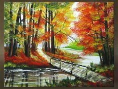 Ručne maľovaný obraz KRAJINA 1 dielny 6230FA
