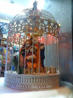 Bird cage nativity!