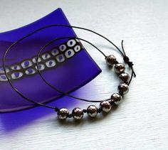 DIY Disco bead necklace tutorial.