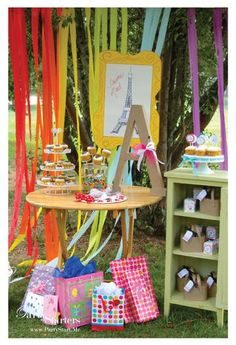 This idea of an art themed party would be a great way to get the kids involved!