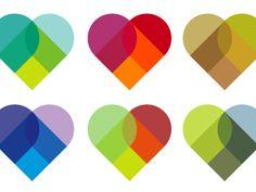 Colourhearts designed by Grant Hutchinson. the global community for designers and creative professionals. Graphic Design Inspiration, Creative Inspiration, Location Pin, Heart Logo, Flyer, Heart Art, Retro, Design Elements, Pattern Design