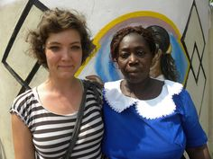 A volunteer with a local staff, in an orphanage in Ghana