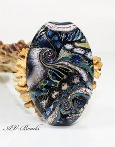 AV-Beads handmade Lampwork Focalbead SRA by AVBeads on Etsy