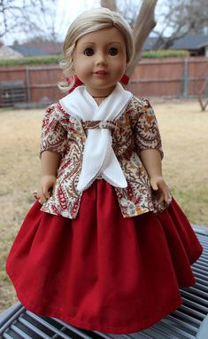 18 Doll Clothes 1770 Style Caraco Jacket Petticoat
